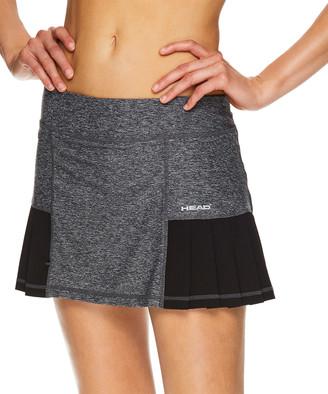 Head Women's Casual Skirts BLACK - Black Heather Pleated Skort - Women