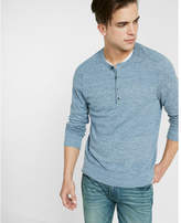 Express cotton ribbed henley sweater