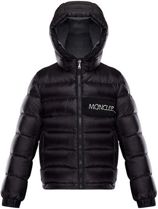 Moncler Aiton Hooded Quilted Jacket, Size 4-6