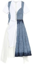 Junya Watanabe Denim and tulle midi dress