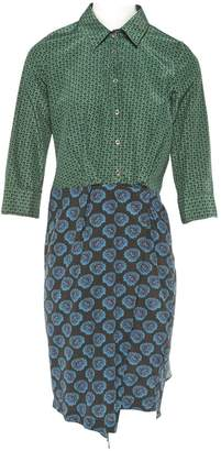 Band Of Outsiders Green Cotton Dress for Women