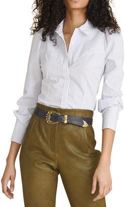 Veronica Beard Jeans Verani Striped Button-Down Shirt