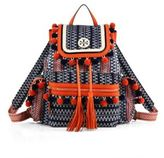 Tory Burch Scout Pom-Pom Drawstring Backpack