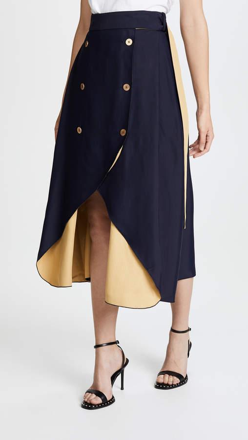 Dion Lee Contrast Loop Skirt