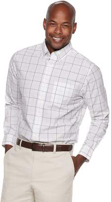 Croft & Barrow Men's Classic-Fit Patterned No-Iron Button-Down Shirt