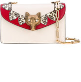 Gucci wolf shoulder bag - women - Leather/metal - One Size