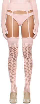 Isa Boulder SSENSE Exclusive Pink Knit Leggings and Briefs Set