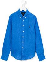 Ralph Lauren button down collar shirt - kids - Linen/Flax - 2 yrs
