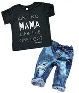 EGELEXY Newborn Toddler Baby Boy Casual Clothes T-shirt Top+Denim Pants Outfits Set