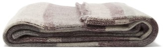 The Elder Statesman Super Soft Striped Cashmere Blanket - Grey Multi