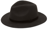 Saks Fifth Avenue Small Fedora with Genuine Velvet Band