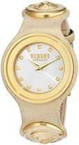 Versus By Versace Women's 'Carnaby Street' Quartz Stainless Steel and Leather Casual Watch, Color:Beige (Model: SCG030016)