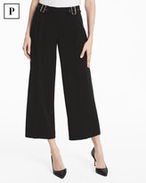 White House Black Market Petite Novelty Wide-Leg Crop Pants