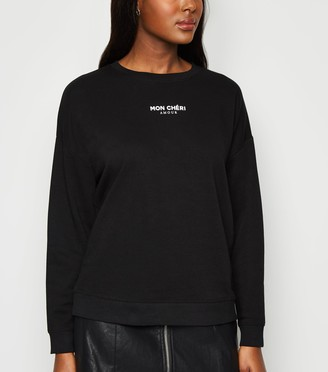New Look Mon Cheri French Slogan Sweatshirt
