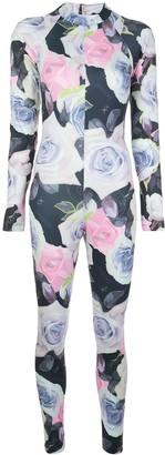 Fantabody Dani floral-print fitted jumpsuit