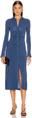 Altuzarra Claudia Dress in Berry Blue Small Dot | FWRD