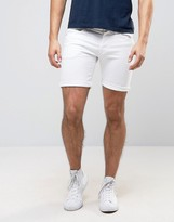 Pepe Jeans Pepe Cane Slim Fit Denim Short White Wash