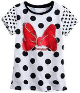 Disney Minnie Mouse Polka Dot Tee for Girls - Disneyland
