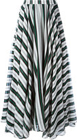 MSGM striped A-line maxi skirt - women - Silk/Cotton - 40