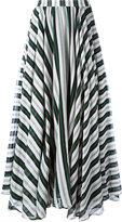 MSGM striped A-line maxi skirt