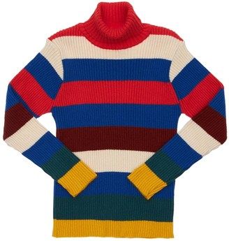 Bobo Choses Striped Viscose Blend Knit Sweater