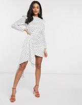 Keepsake Foolish polkadot mini dress in porcelain polka dot