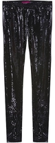 Black Sequin Long Leggings