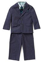 Class Club Little Boys 2T-7 Plaid Button-Down Shirt, Blazer, Pants, & Striped Tie 4-Piece Set