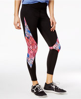Jessica Simpson The Warm Up Juniors' Mesh-Inset Leggings