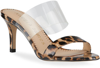 Allegra James Chase Leopard-Print Slide Sandals