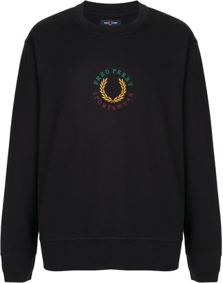 Fred Perry Logo Embroidered Sweatshirt