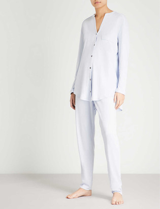Hanro Pure Essence cotton-jersey pyjama set