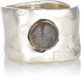 Ali Grace Women's Labradorite Cabochon Wide-Band Ring