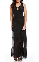 Calvin Klein Tiered Printed Maxi Dress