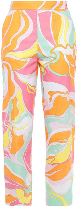 Emilio Pucci Printed Cotton-poplin Tapered Pants