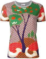 RED Valentino landscape print T-shirt - women - Cotton - L