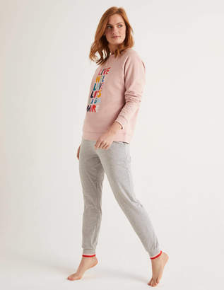 Boden Striped Cuff Jersey Joggers