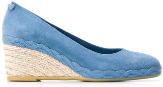 Salvatore Ferragamo Capraia espadrille wedge pumps