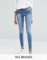 Noisy May Tall Eve Raw Hem Slim Jean