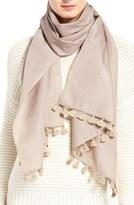 Eileen Fisher Women's Hand Loomed Metallic Wool Blend Scarf