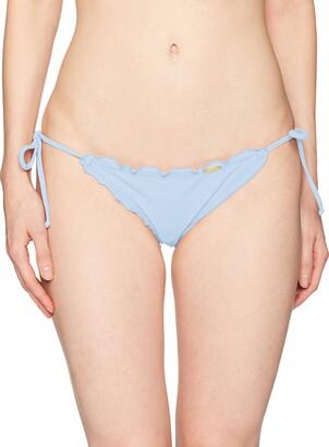 Luli Fama Women's Cosita Buena Wavey Brazilian Ruched TIE Side Bikini Bottom