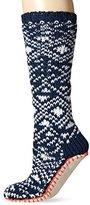 Lucky Brand Lucky Women's Marled Fair Isle Slipper Sock