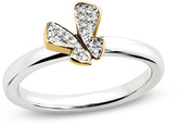 Zales Stackable ExpressionsTM Diamond Accent Butterfly Ring in Sterling Silver with 14K Gold Plate