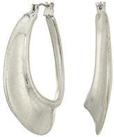 Robert Lee Morris Sculptural Silver Hoop Earrings Earring