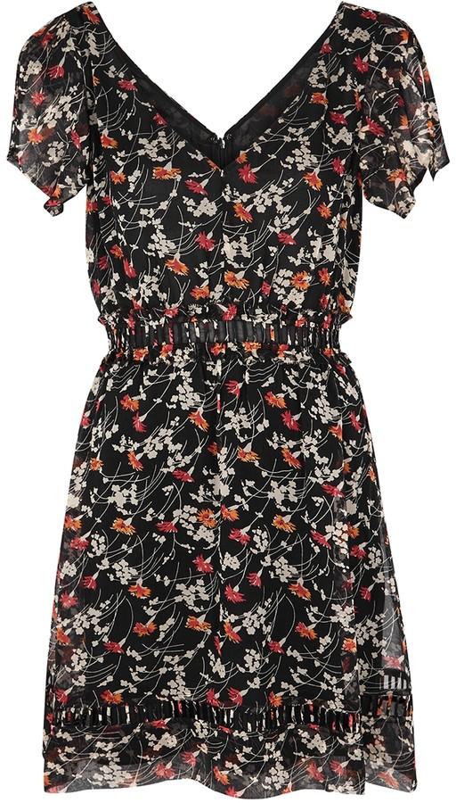 Joie Huntlie floral-print georgette mini dress