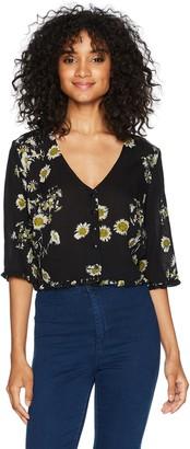 Obey Women's Hattie Button Front Shirt