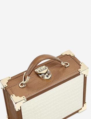 Aspinal of London Italian leather Mini Trunk clutch