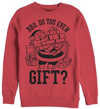 Fifth Sun Men's Sweatshirts and Hoodies RED - Red 'Bro, Do You Even Gift?' Crewneck Sweatshirt - Men