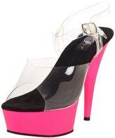 Pleaser USA Women's Delight-608UV/C/NP Platform Sandal