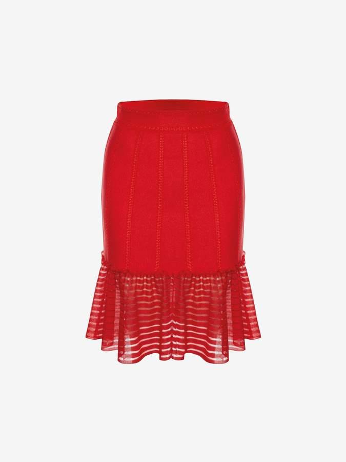 Alexander McQueen Sheer Knit Mini Skirt